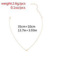 Tiny Heart Necklace for Women SHORT Chain Heart Shape Pendant Necklace