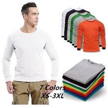 Cotton Casual Comfort Men Sweatshirt 2019 Spring New Streetwear Unisex casual 7 color Plus size XS-3XL