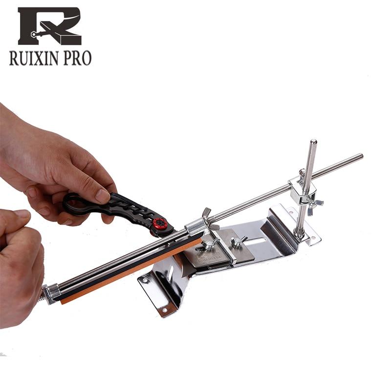 Новое обновление, точилка для ножей из стали, профессиональная точилка для кухонных ножей, фиксированный угол заточки с камнями