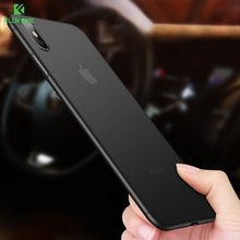 FLOVEME Ultra Thin Matte PP Phone Case For iPhone 7 XR XS Max X 0.38mm Slim Cover 8 Plus Shockproof Capa