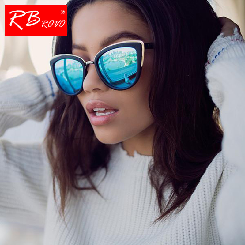 RBROVO 2019 Fashion Metal Sunglasses Women Vintage Cateye Eyewear For Women Mirror Retro Party Oculos De Sol Feminino UV400-in Women's Sunglasses from Apparel Accessories on Aliexpress.com | Alibaba Group