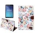 """Para Samsung Galaxy Tab 9.6 E """"sm-t560 t561 cubierta casos flip cubierta elegante del soporte para samsung tablet fundas con ranura para tarjeta"""