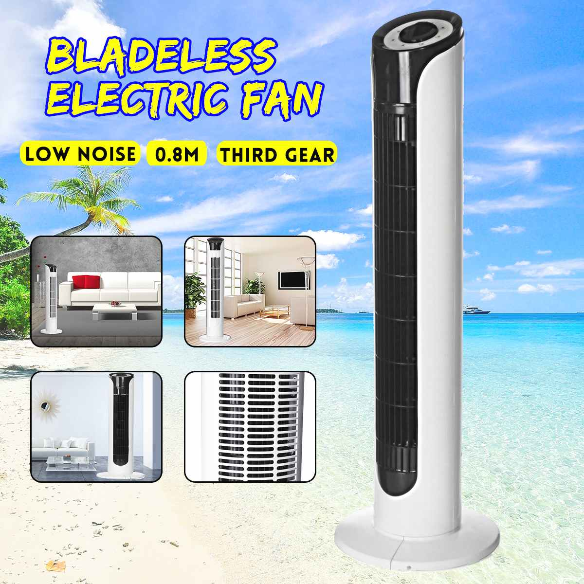 Air Conditioner Conditioning Fan 80cm Bladeless Electric Air Cooler Cooling Living room Bedroom Fan Household Wind AdjustableAir Conditioner Conditioning Fan 80cm Bladeless Electric Air Cooler Cooling Living room Bedroom Fan Household Wind Adjustable