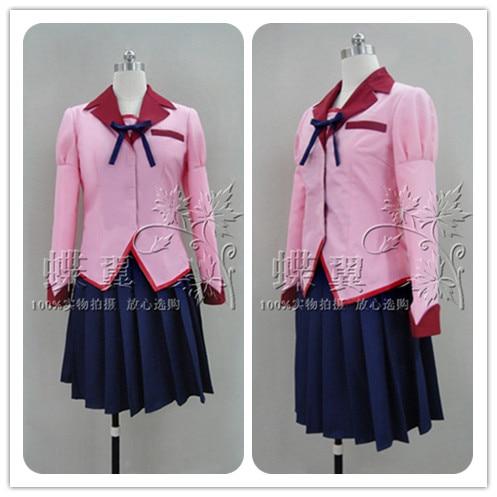 Anime Bakemonogatari Monstory Hanekawa Tsubasa Uniform Cosplay Costume все цены