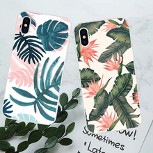 LAUGH LIFE Green Leaf Phone Case For iPhone XS Max XR 6 S 7 8 Plus X High Quality Summer Hot Fresh Plants Back Cover Cases