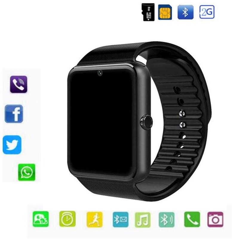 GT08 Intelligente Orologio Bluetooth Supporto 2G SIM Max 8G Tf macchina fotografica Per Android ios di apple Bambini Donne orologio Cellulare Con Vendita Al Dettaglio Box
