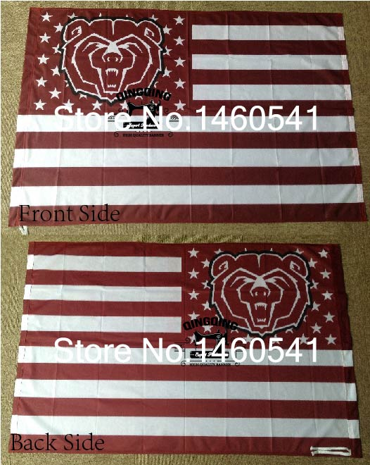 Missouri State Bears Nation Flag 3ft x 5ft Polyester NCAA Banner Flying Size No.4 144* 96cm QingQing Flag
