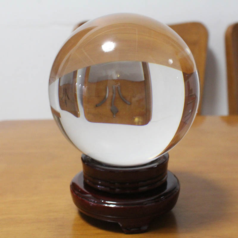 30/40/50mm Clear Glass Crystal Ball for Photography Props Home Decoration Gifts Hot Sale