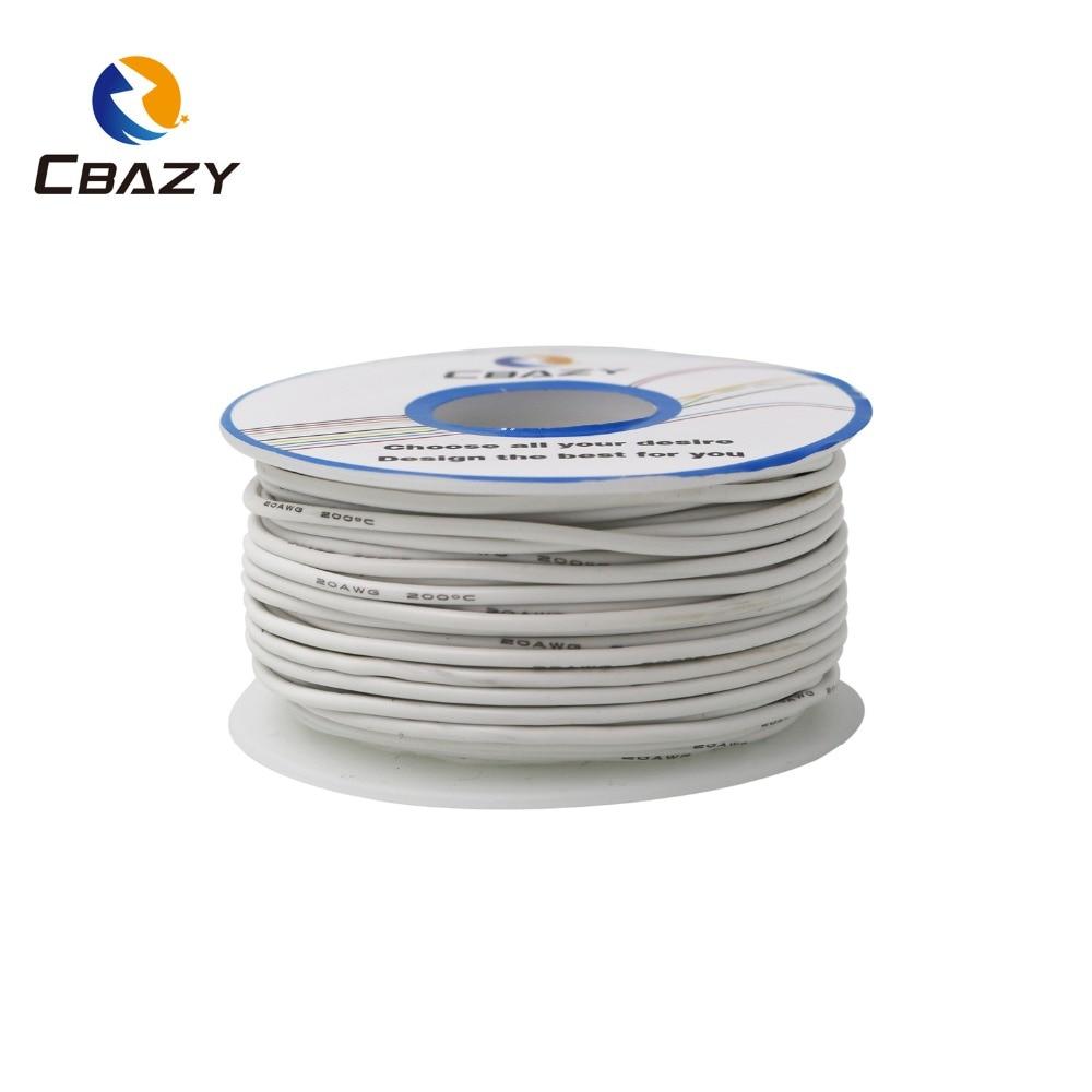 20 Meter 28awg Flexible Silikon Draht Kabel Drähte Rc Kabel Kupfer Draht Weiche Elektrische Drähte Kabel Für Diy Industrie 10 Farben Beleuchtung Zubehör