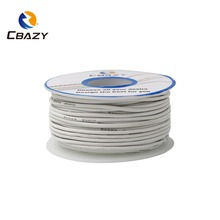 50 meter 28awg flexible silicone wire cable wires rc cable copper wire soft electrical wires cable for diy industry 10 colors CBAZY Silicone 30AWG 33M /147FT  Flexible Silicone Wire RC Cable Square Model Airplane Electrical Wire Cable  10 colors for choo