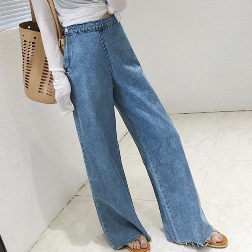 new High Waist Pants stretch Jeans Women Wide Leg Denim Boot Cuts