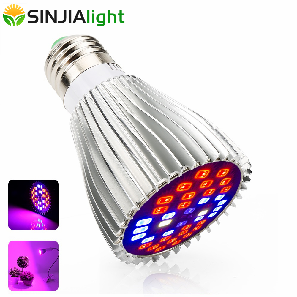 30W Full Spectrum LED Grow Light 40LEDs Ultraviolet Lamp Led Bulbs For Flowers Aquarium Hydroponic Grow Box Indoor Plant Lights