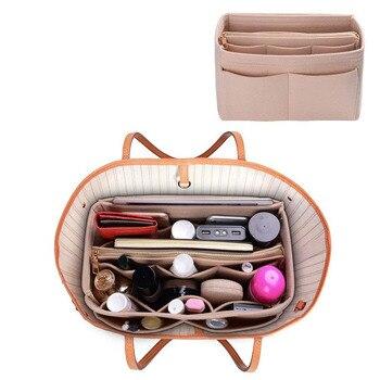Purse Organizer Insert Makeup Handbag , Felt Bag organizer with zipper, Handbag & Tote Shaper, Fit Cosmetic Bags Never Full,Tote 6