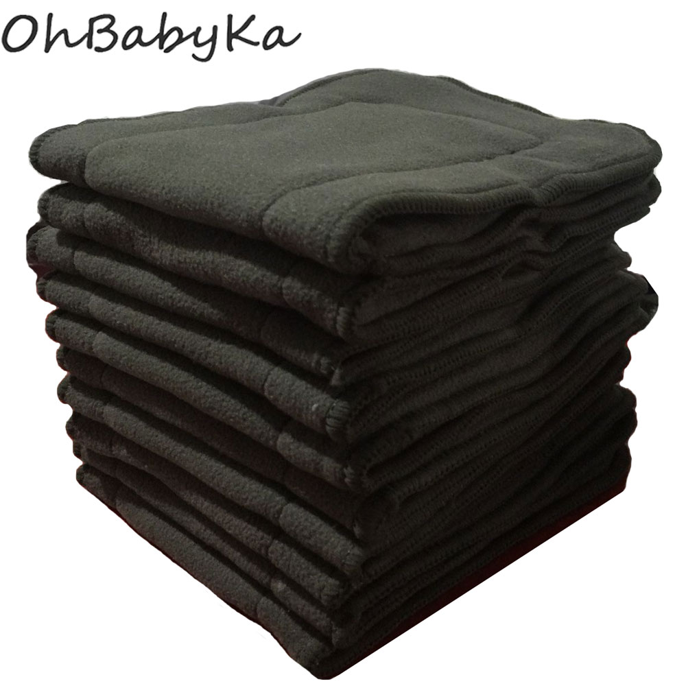 ohbabyka-10pcs-cloth-diaper-inserts-4-layers-bamboo-charcoal-pocket-diaper-inserts-liners-for-baby-cloth-nappy-couches-lavables