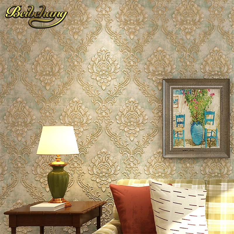 beibehang European papel de parede 3d para sala atacado Wall Paper roll Embossed Wallpaper Livingroom Backdrop WallCovering 015 top fashion papel de parede para sala wall style elephant with collapsing design 3d wallpaper mural can be customized paper