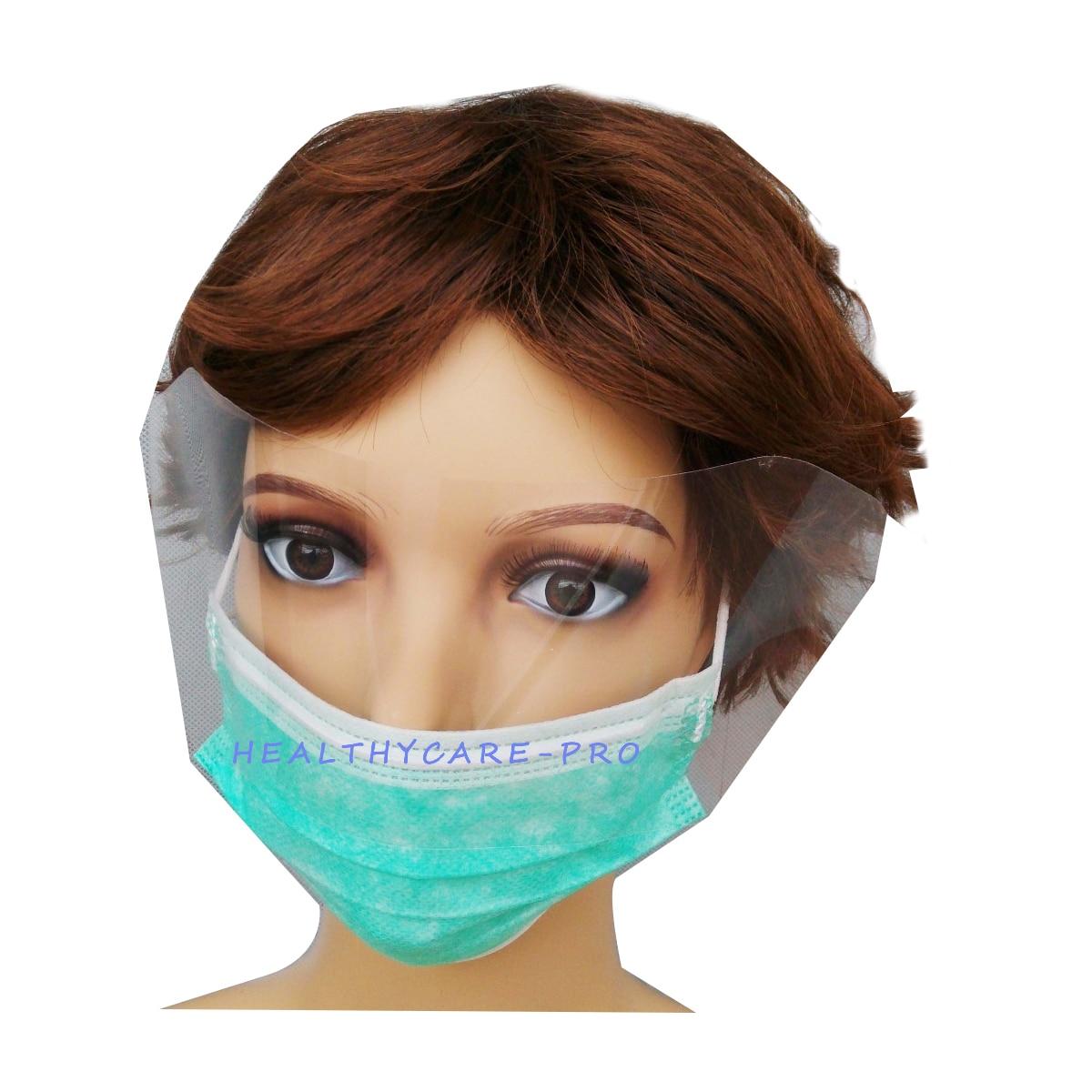 100 Pcs/Pack Chirurgische Gesicht Maske Ohrbügel Atemschutz Staub Mund Anti Nebel Mit Visier 3 Schicht Schwarz Maske unisex Für Gesundheit Pflege