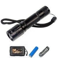 CREE T6 mini flashlight outdoor hunting mini flashlight aluminum alloy zoom