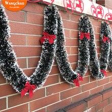 2M Christmas Garland Ribbon 2018 New Year Decorations Hanging Xmas Dekoration for Home Bowknot Deals