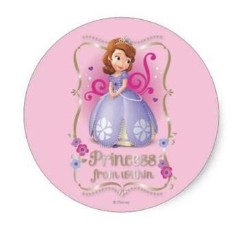 1.5inch Sofia Princess from Within Classic Round Sticker