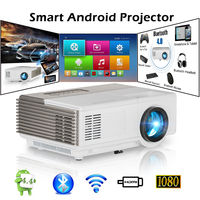 CAIWEI Mini Portable LED HD 1080P Video Projector WiFi Android Bluetooth Proyector Digital Smart Beamer Home Theater Cinema