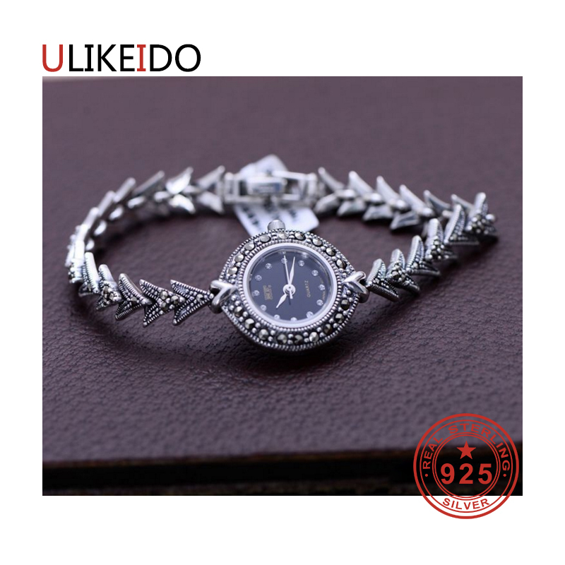 100% Pure 925 Sterling Silver Watch Men Fashion Hand Chain For Women Thai Silver Jewelry Charm Bracelet Homme 1533 925 sterling silver mens bracelets fashion domineering classic hand chain for men and women special jewelry charm bracelet 267