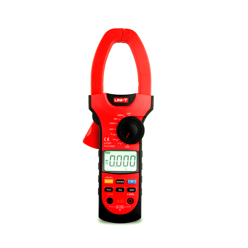 UT207 3 5/6 Digital Auto Range Digital Clamp Multimeters 1000A 600V True RMS Clamp Meter UNI-T Ammeter Voltmeter LCD Backlight fluke f302 1 6 lcd ac clamp meter yellow red 3 x aaa