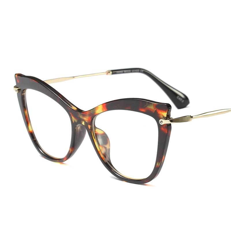 YDO Mode Cat Eye Glasses Wanita Transparan Batal Lens Kacamata Merek - Aksesori pakaian - Foto 3