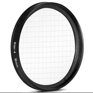 Image 2 - 58mm star filter camera lens filter star 4  6  8 cross 4 6 8 point for canon 500d 450d 550d 600d 1000d 1100d 18 55mm lens