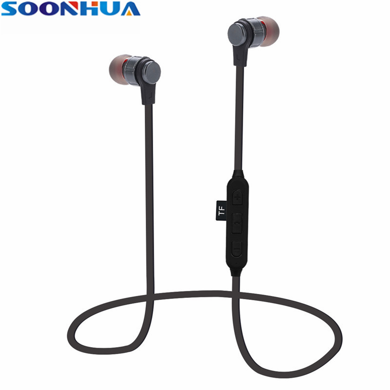 SOONHUA Wireless Headphone Bluetooth Earphone TF Card Fone de ouvido For Phone Sports Running Stereo Headset Bluetooth V4.2