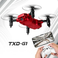 TXD G1 Foldable Mini RC Drone Altitude Hold Helicopter WiFi FPV One Key Return Take off 360 degree Quadcopter VS XS809HW JJRCH37