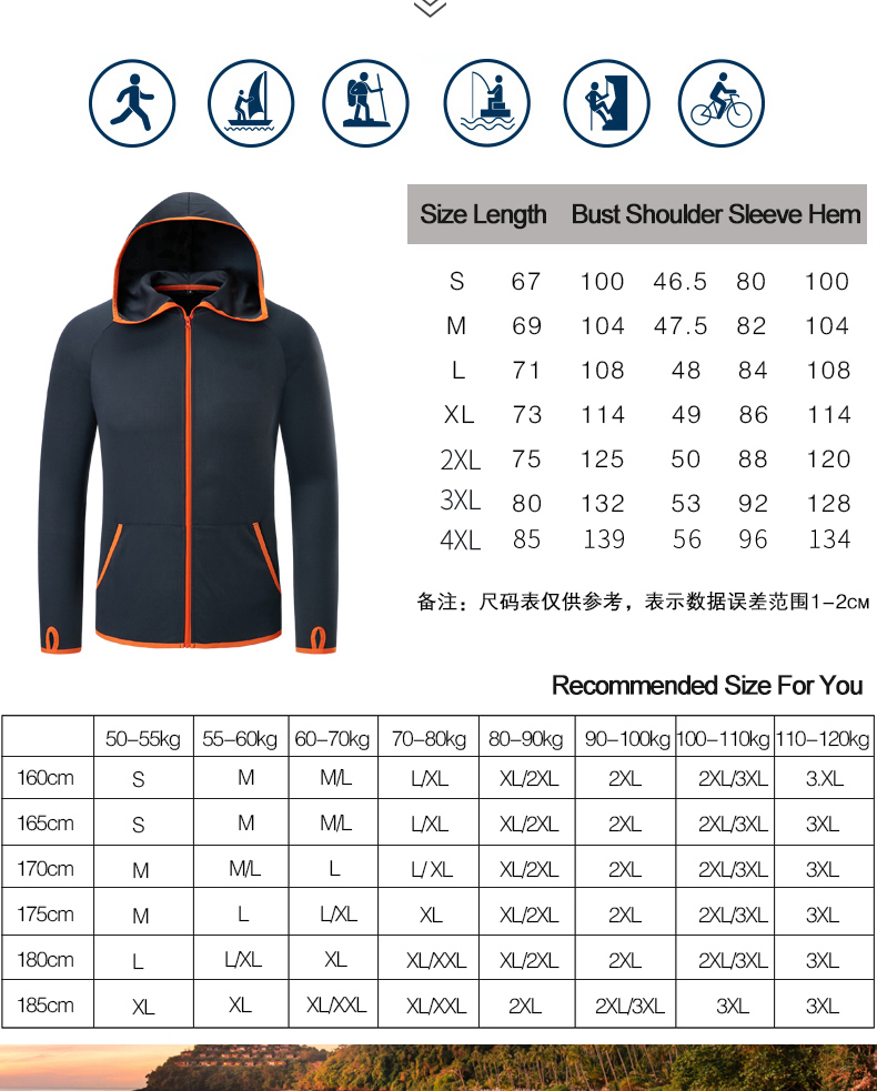 Waterproof Men's Hiking Jackets Windproof Outdoor Jackets Men's Windbreakers Hydrophobic Hiking Clothing Fishing Hunting Jackets