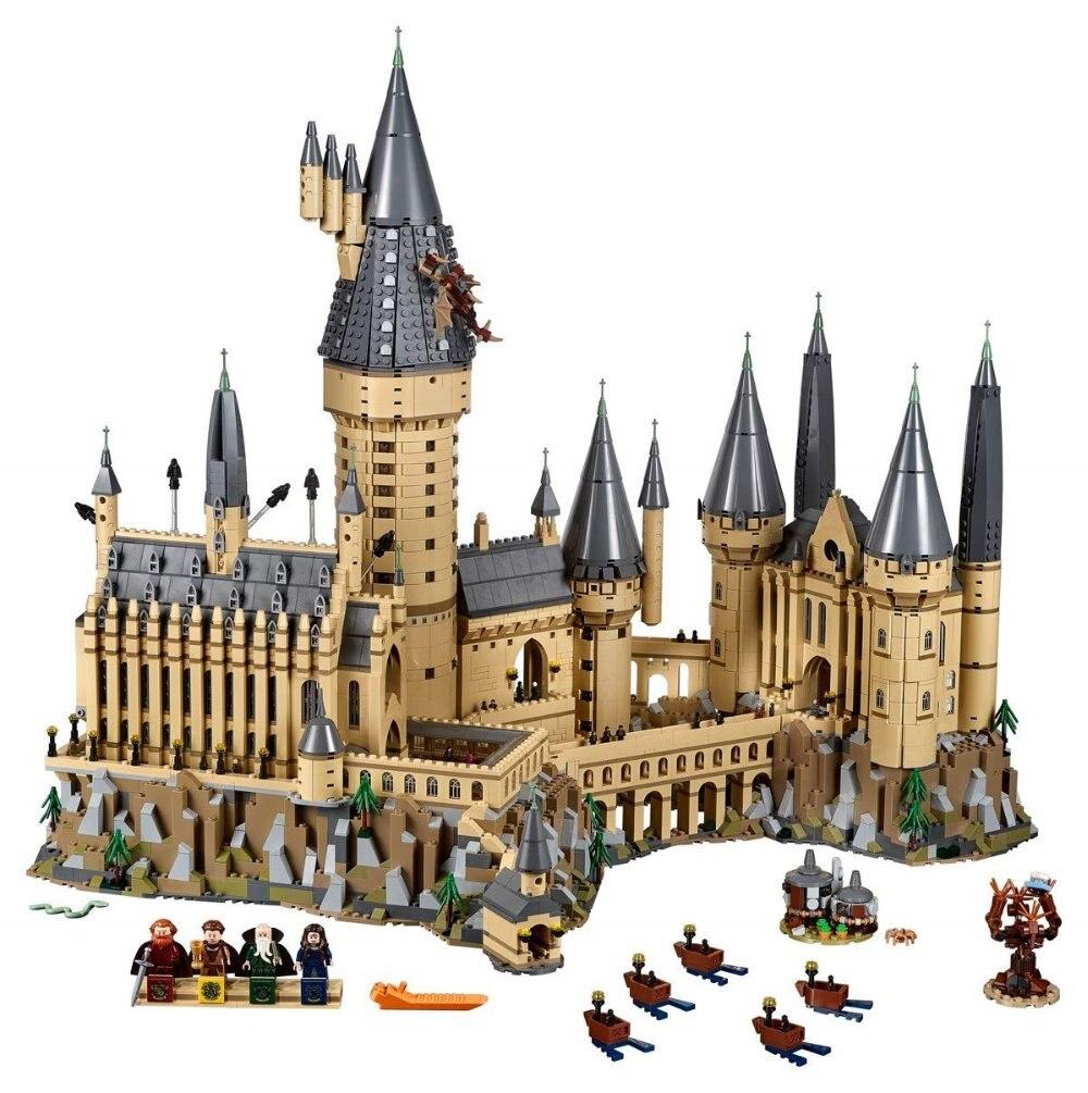 In magazzino Lepin 16060 Harry Film Potter Hogwarts Castello Set Corredi di Costruzione di Modello Blocchi Per I Bambini Compatibile Legoing 71043