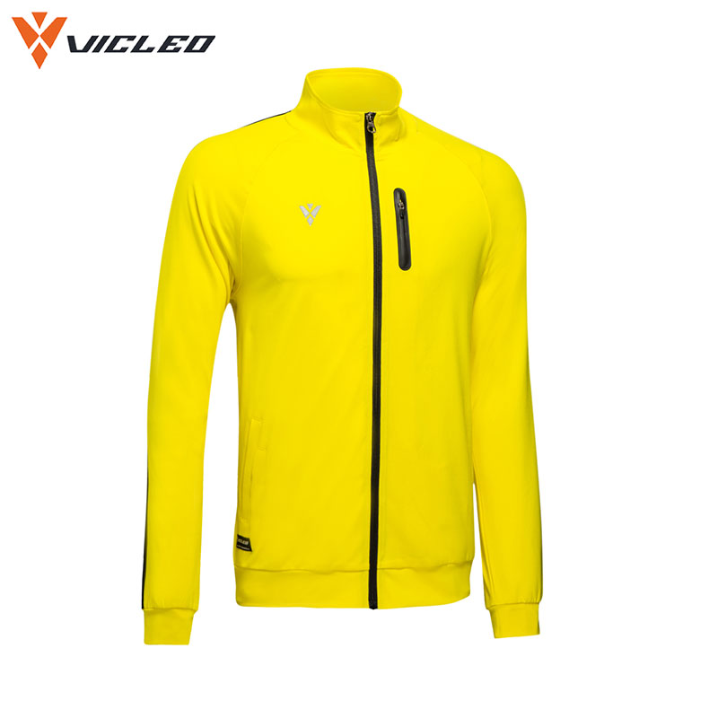 Vicleo Windproof Soccer Knitted Jackets for Men Practice Autumn Breathable Quick Dry Fitness Tennis Running Jacket