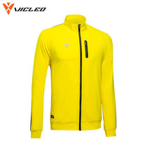 Vicleo Windproof Soccer Knitted Jackets for Men Practice Autumn Breathable Quick Dry Fitness Tennis Running Jacket  16Z09001