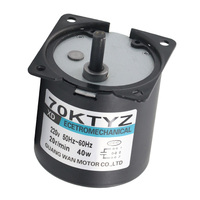 220V AC 40W low speed geared motor 70KTYZ permanent magnet synchronous motor adjustable direction High Torque Low Noise motor