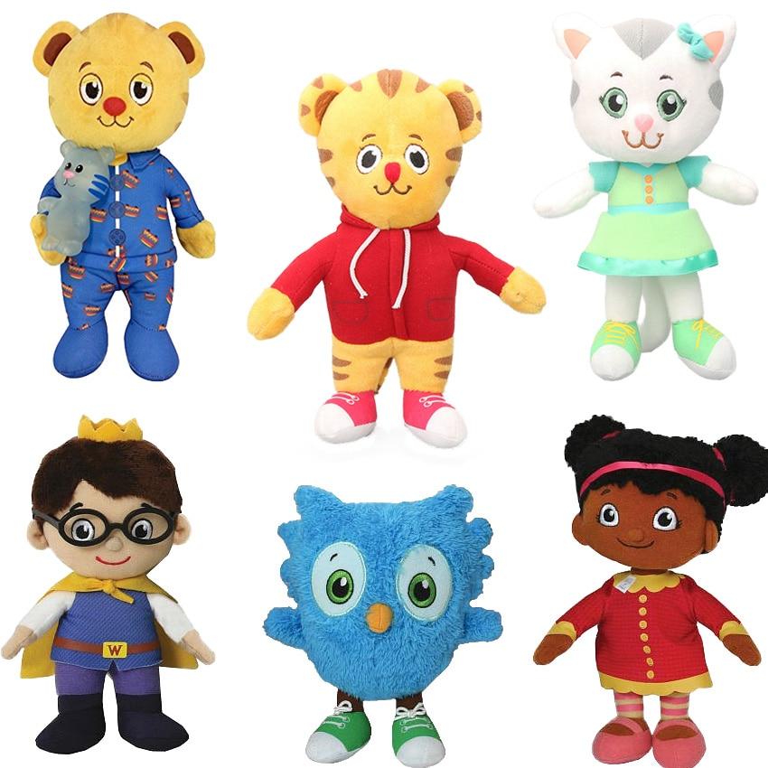 20cm Daniel Tiger's Neighborhood Friends Plush Toys Katerina Kittycat Miss Elaina Prince Cat Tiger Stuffed Plush Animals Dolls