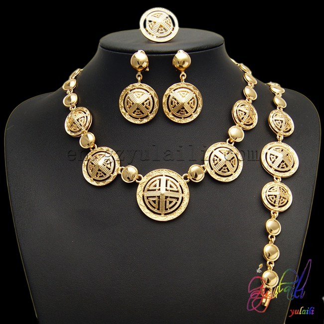 Yulaili Fashion Gold Plating Wholesale Jewelry Rarefied Jewelry Set