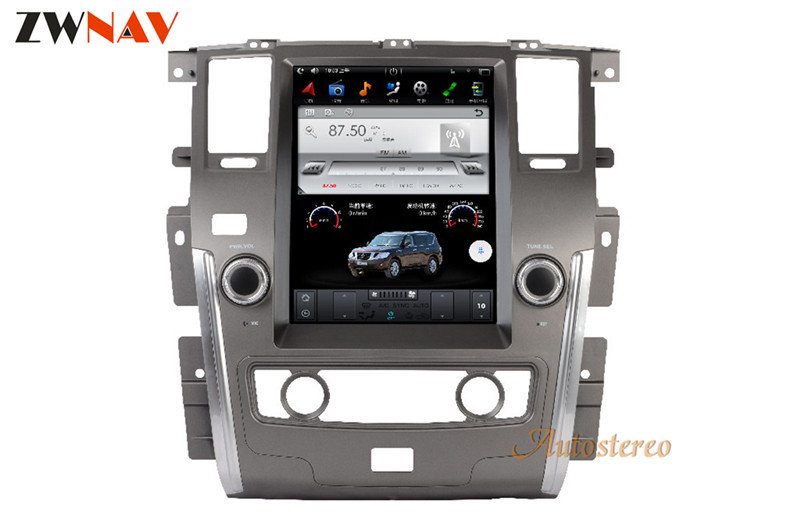 ZWNVA Tesla style Screen Newest Android 6.0 64+2GB Car GPS Navigation Radio Stereo Head Unit For NISSAN PATROL 2010 2017
