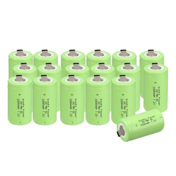 Anmas power!new goods !18pcs sub c SC battery Ni-Cd battery rechargeable battery 56 g 3300mh with tab-green  color 4.25CM*2.2CM