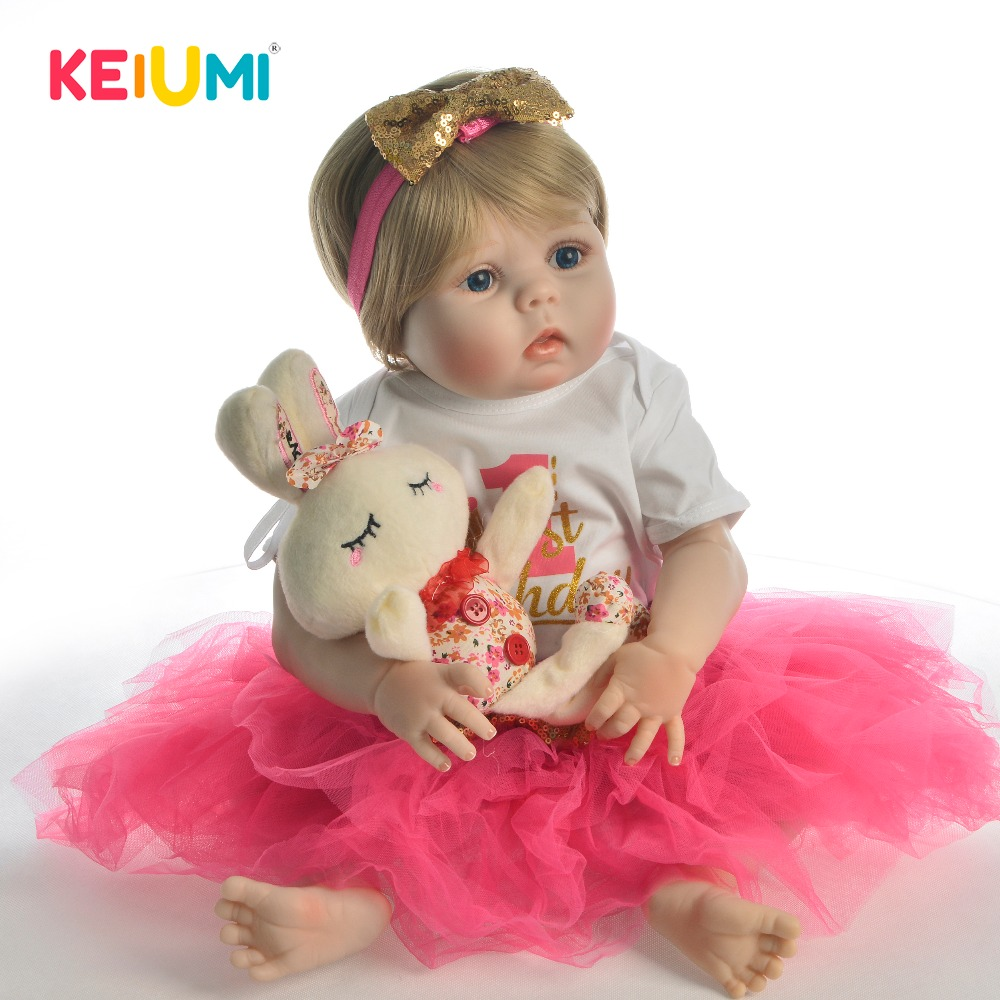 New Arrival 23 Reborn Dolls Babies Full Silicone Body 57 cm Reborn Baby Girl Adorable Vinyl