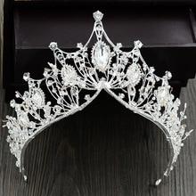 Princess Rhinestone Crystal Crown tiara Fashion Queen Bridal Wedding Crowns Headpiece Wedding Hair Jewelry Accessories Bride M30 fashion full big zircon crown bridal tiara gleaming queen princess hair jewelry wedding