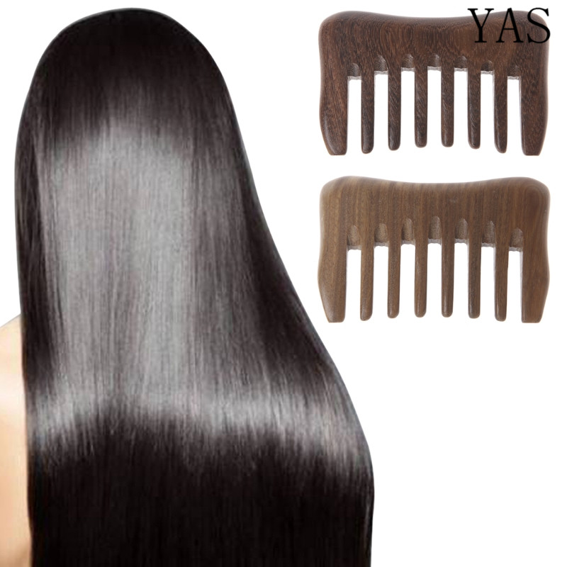 Natural Wood Comb Hair  Wooden Wide Tooth Hair Comb Detangler Sandalwood Waist And Makeup Comb