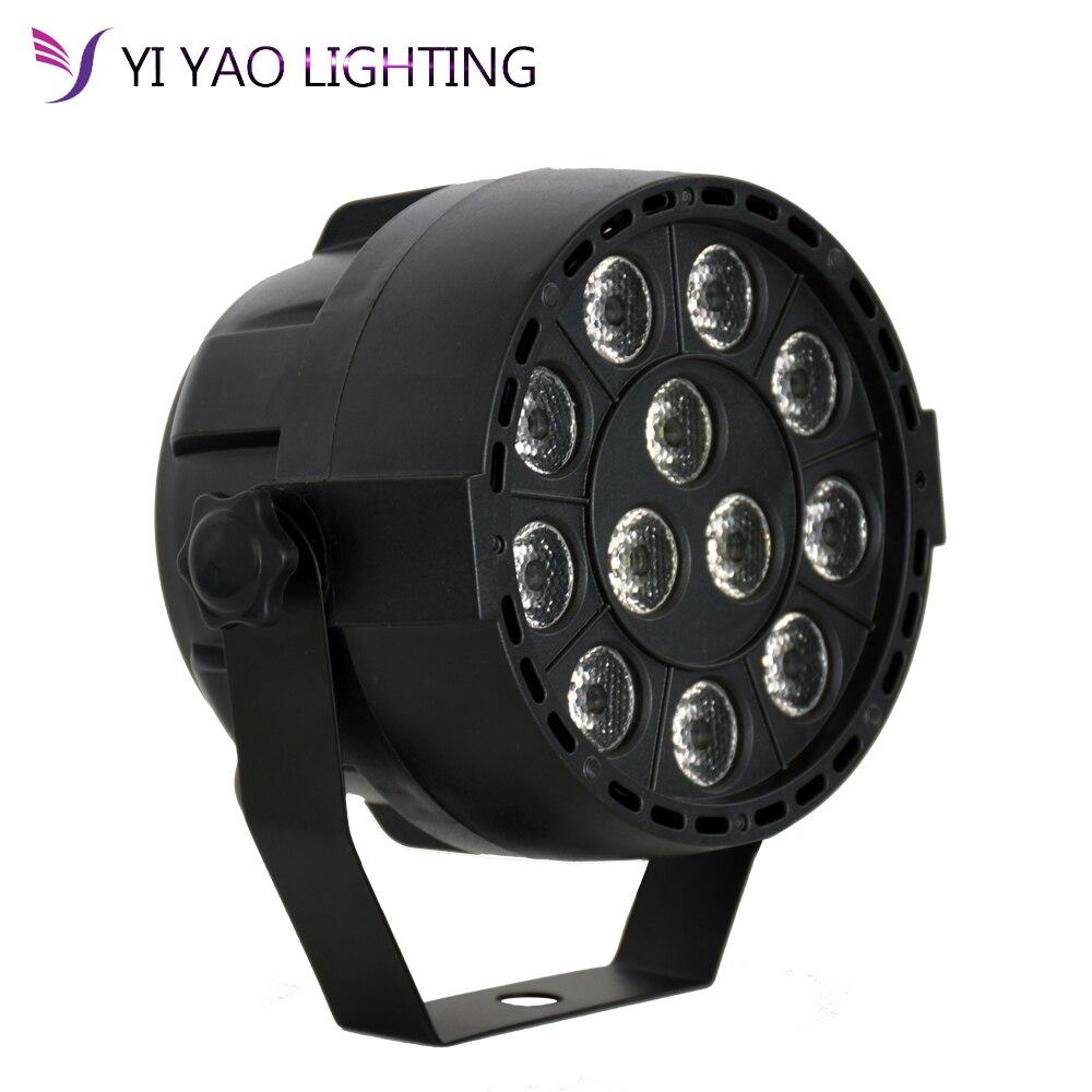 12x3w Led Par Stage Light 36W LED RGBW DMX 512 8CH Mini Par Led Lighting For Club Dj Show Home Party Ballroom Bands