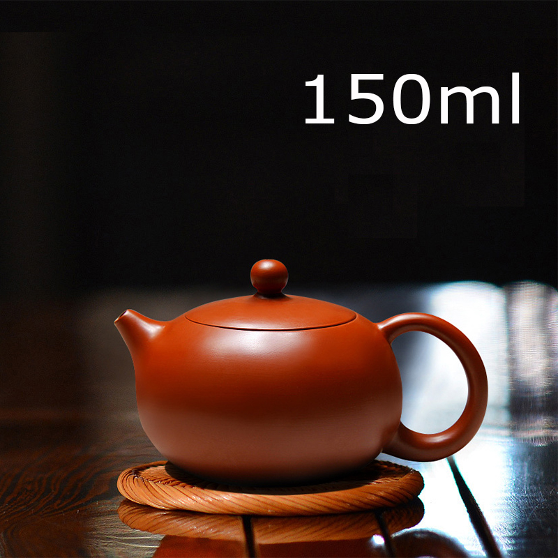 New Arrival Handmade Xi Shi Pot With Tea Infuser Teapot Red Clay Tetera 150ml Zhu Ni Porcelain Antique Chinese Ceramic Kettle