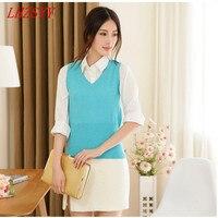 Spring New Female Korean Cashmere Wool Turtleneck Sleeveless Vest Knitted Blouse Sweater Vest Waistcoat Fashion Wild