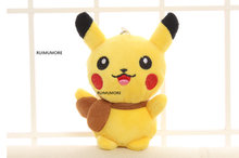 Quality 12CM Height Approx. Stuffed Toy , Cute Pikachu Plush Toy Doll , Cat Stuffed Plush key chain plush toy doll(China)