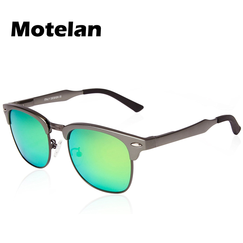 Fashion Polarized Classic Horn Rimmed Half Frame Sunglasses for Men Women with Polarized 100% UV400 Protection Lens 5 Colors
