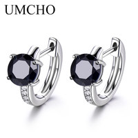 UMCHO Natural Sapphire Earrings For Women 100% Real 925 Sterling Silver Earrings Female Engagement Fine Jewelry Fashion 2018 New