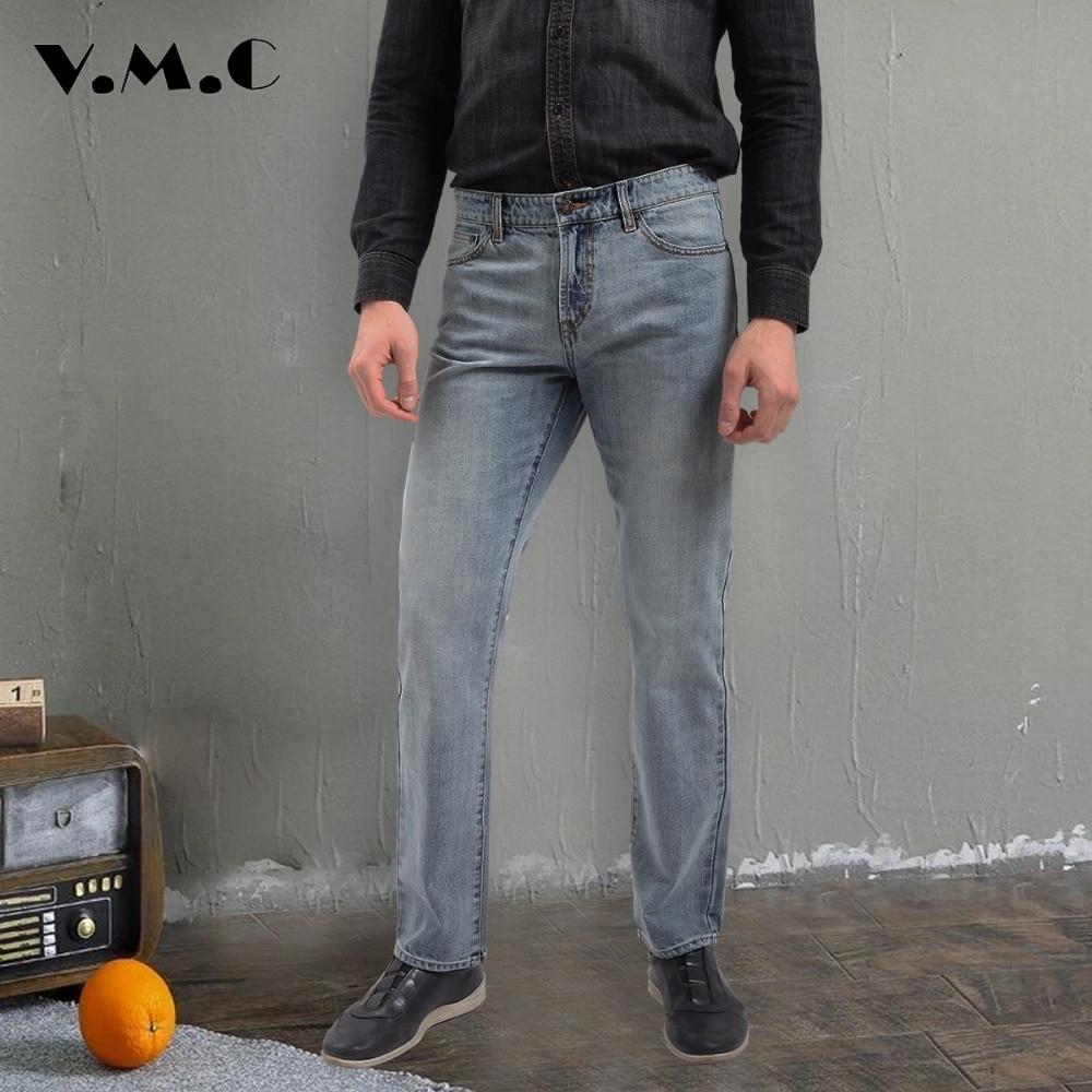 Men 's Jeans New 2017 Spring Summer Fashion Men's Straight Casual Denim Trousers Men's Mid Waist Pants Men's Cotton Jeans