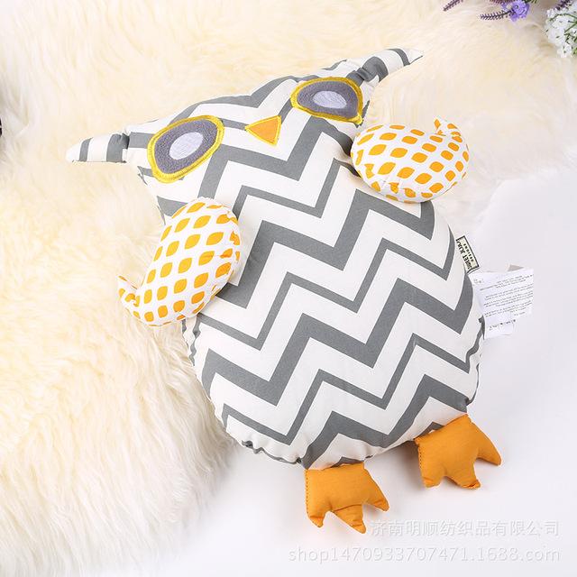 Travesseiro do bebê para Crianças Brinquedos de Pelúcia Da Menina do Menino Forma coruja Bonecas Quarto Crianças Decorativa Enfant Coussin Fotografia Adereços